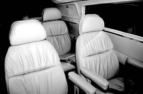 Want a custom leather interior for your six- place twin? The going cost is between $5500 and $8000 for a mid-range job.